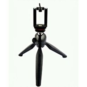Yunteng Yt-228 - Mini Tripod for Mobile Phones & Camera With Mobile Clip - Black-Lp