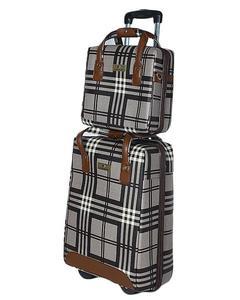 Hand Carry Trolley Bag + Hand Bag - Brown