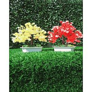 NS CollectionPack of 2 Yellow + Red Artificial Tree