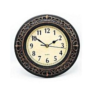 Eiffel Mart Antique Style Wall Clock - Brown - 10X10""