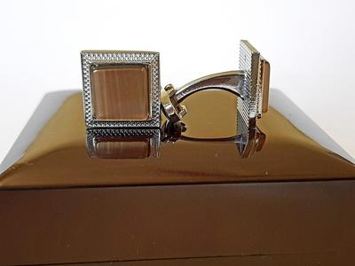 Desert Sand - Gemstone - Square Cufflinks for Men