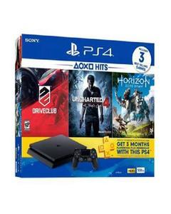 PS4 Hits Bundle: PlayStation 4 500GB + 3 Hit Games + 3 Months PlayStation Plus Membership Card