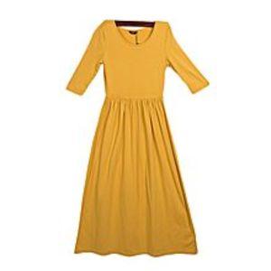INCMustard Maxi Dress