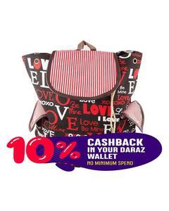 Elegant Check Pockets Backpack School Bag Notebook Bag Laptop Bag Travel Bag for School and College - Black