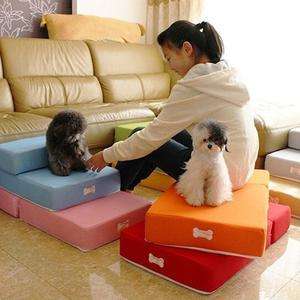 """""""Purism 2 Step Pet Stair Portable Dog Puppy Cat Sofa Bed Indoor Soft Folding Ramp Ladder Rose Red"""""""