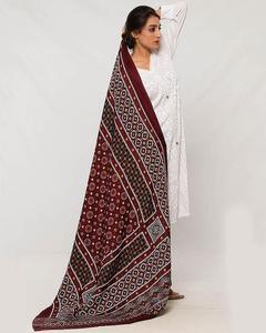 Women Multi Color Sindhi Ajrak 00006