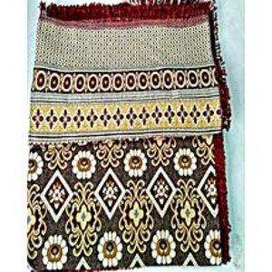 Al Aziz traders MULTANI GUL TEX KING SIZE COPPER COLOR FANCY SILK DOUBLE BED SHEET