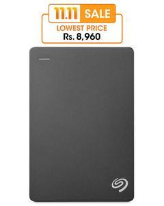 1TB Slim Portable External Hard Drive, External Hard Disk - Black