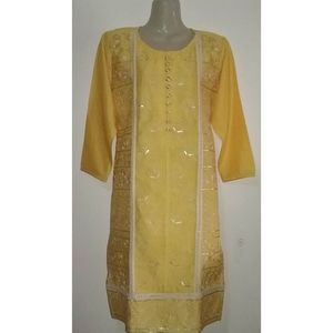 Kurti Yellow Color