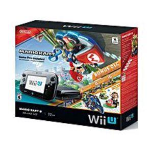 Nintendo Wii U - 32GB - Console Deluxe Set With Mario Kart 8 - Black