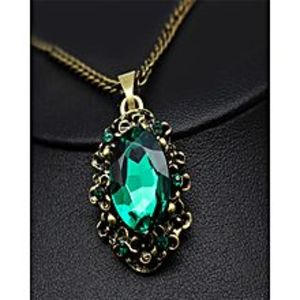 TRI IMPEX Artificial  jewellery Green Crystal Necklace Pendant Mothers Day