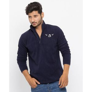 Todd Davis Navy Polar Fleece Jacket For Men - EL-1
