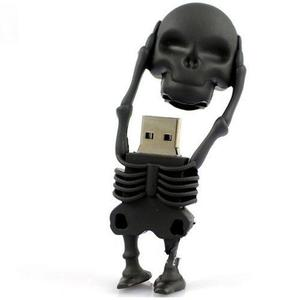 Skeleton Shape USB 2.0 Flash Drive 4/8/16/32/64 GB - Black