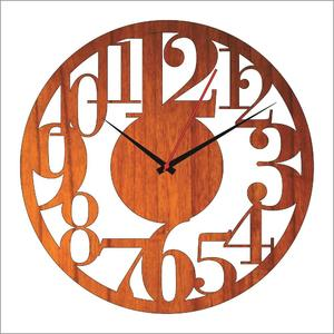 Wooden clock wall clock laser cutting antique wooden clock