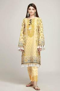 Khaadi Replica Embroidered Un-Stitched Lawn Dress for Women