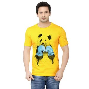 Ace Yellow - Cotton Boxer Panda Printed T-Shirt for Men