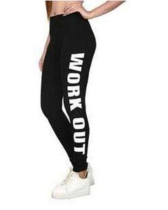 Black Printed Gym Tights For Women By T-Shirts & Tops