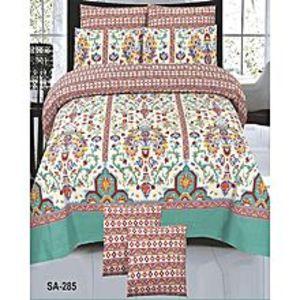 Pak Bed SheetsMulticolor Cotton King Size Bedsheet Set - 3pcs
