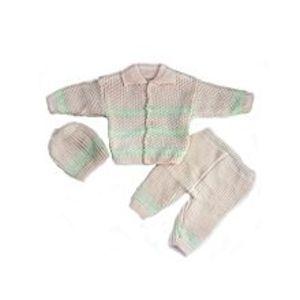 PeekabooMulticolor Woolen 3 Pcs Collar Sweater Set for Newborn