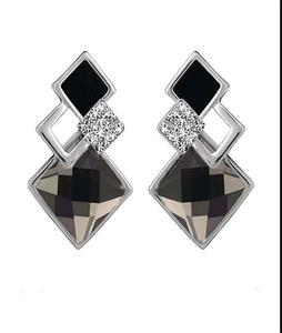 NEW Fashion Vintage Long Rhombus shape Crystal Earrings For Women Classic Gold-Color Fine online Jewelry sale