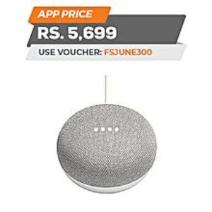 GoogleGoogle Home Mini Portable Smart Speaker - Chalk