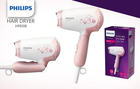 Philips Hp8108/00 - Hair Dryer - White & Pink
