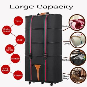 4 Layers Expandable Rolling Duffel Bag Wheeled Spinner Suitcase Luggage 56-75L