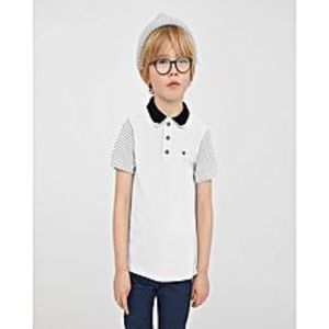 Outlook FashionFashion Single Jersey Polo Shirt For Kids-Dark Burgundy-NA1130