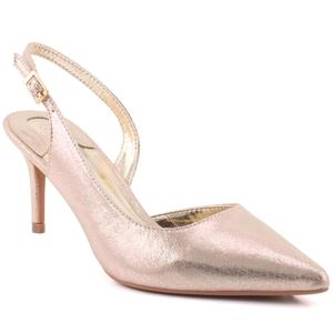 "Women ""Cherry"" Shimmery Pointy Toe Sling Back Stiletto Heel Sandals  L31719"