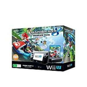 Nintendo  Wii U With Mariokart 8 - NTSC - Black