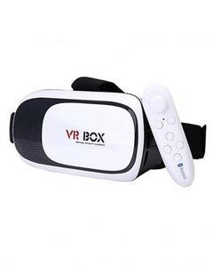 VR BOX II 2.0 VR - Virtual Reality 3D Glasses with Bluetooth Gamepad - White & Black
