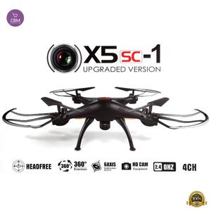 Syma X5SC/X5SC-1 Falcon Drone HD 2.0MP Camera 4 Channel 2.4G Remote Control Quadcopter 6 Axis 3D Flip Fly UFO 360 Degree Eversion With 4GB SD Card Black (N)