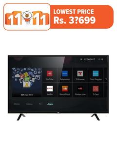 "TCL S64 - Smart Full HD LED TV - 40"" - Black"