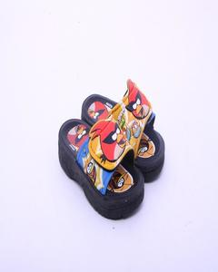 Multicolor Rubber Angry Birds Slipper For Kids
