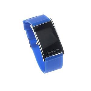 LED Alarm Date Digital Women Men Sports Rubber Bracelet Wrist Watch BU