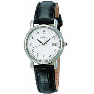 Seiko SXDA13P1-Women Leather Strap Wrist Watch