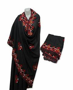Black Sindhi Embroidered Shawls for Women