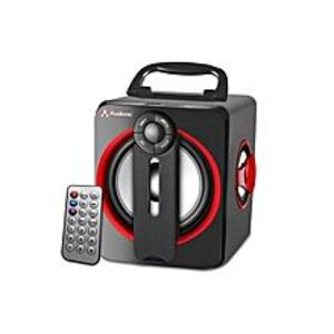 AudionicRex 4 Wireless Bluetooth Rechargeable Speaker With USB Port - Black & Red