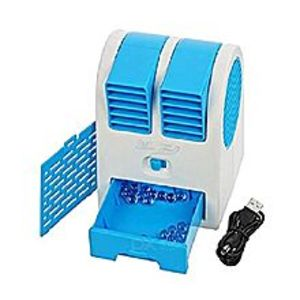 Muzamil StorePortable Mini Fan Super Handheld Mute USB Battery Air-conditioning cooler - Blue