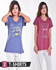Pack of 2 shirts For Girls & Women