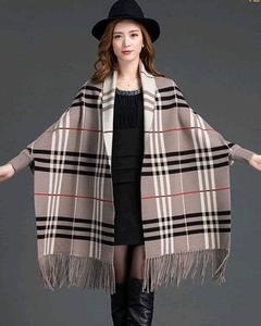 Check Shawl Design 01 Coat RBS-526