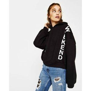 perfect weekend printed Kangroo hoodie for women