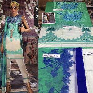 Sana Safinaz, Lawn suit with chiffon duppta (3pc)