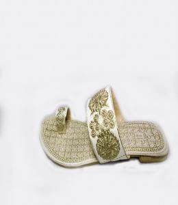 Silver Synthetic Fancy Slipper For Women - 353-50568