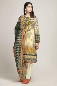 Khaadi Lawn Un-Stitched Embroidered Replica Dress for Women
