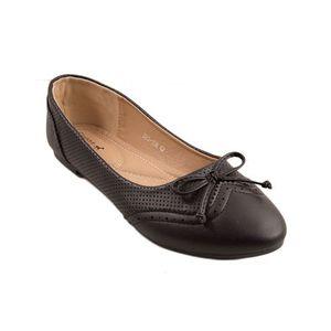 Black Artificial Leather Womens Pumps 060-128