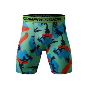 Men's Sports Fitness Tight Short Pants Compression Quick-Drying Breathable Training Camouflage Pants Trousers