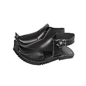 HRH fashion Black Leather Peshawari Sandal For Men