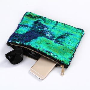 Women Double Color Sequins Wallet Card Holder Wallet Purse