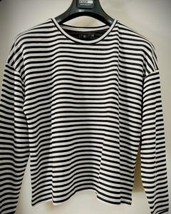 Stripes Sweatshirt For Women - Black